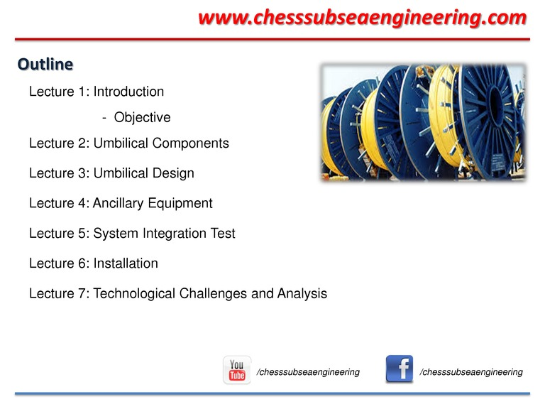 Subsea Umbilical Systems Chess Subsea Engineering