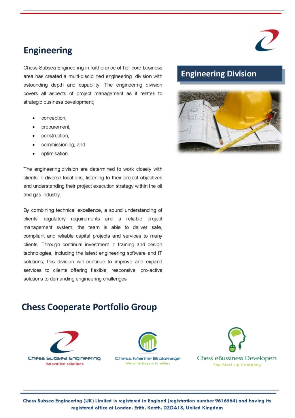 Engineering Consultancy Profile : Chess subsea engineering consultancy firm profile